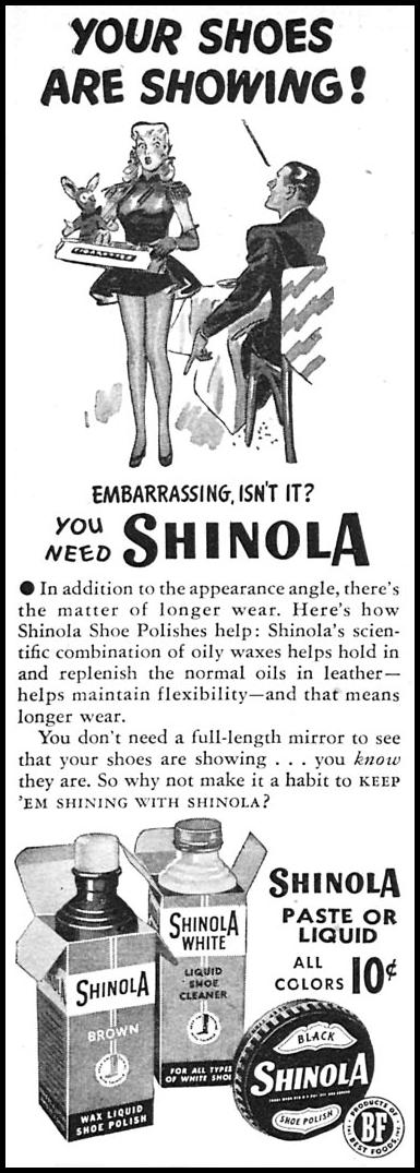 SHINOLA SHOE POLISH WOMAN'S DAY 04/01/1946 p. 88