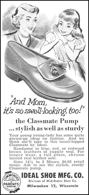 CLASSMATE GIRLS' PUMP WOMAN'S DAY 04/01/1956 p. 118