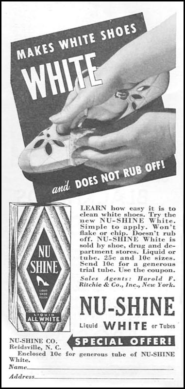 NU-SHINE SHOE POLISH GOOD HOUSEKEEPING 06/01/1935 p. 208