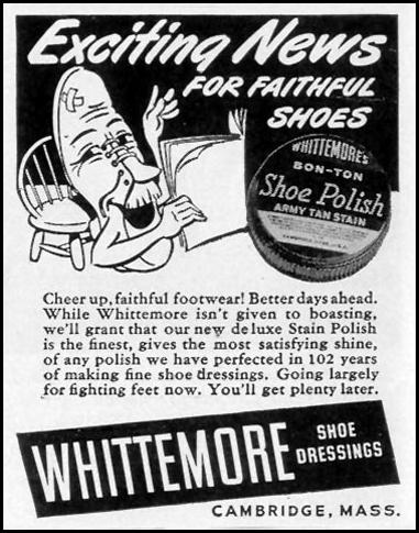 WHITTEMORE'S BON-TON SHOE POLISH LIFE 02/21/1944 p. 102