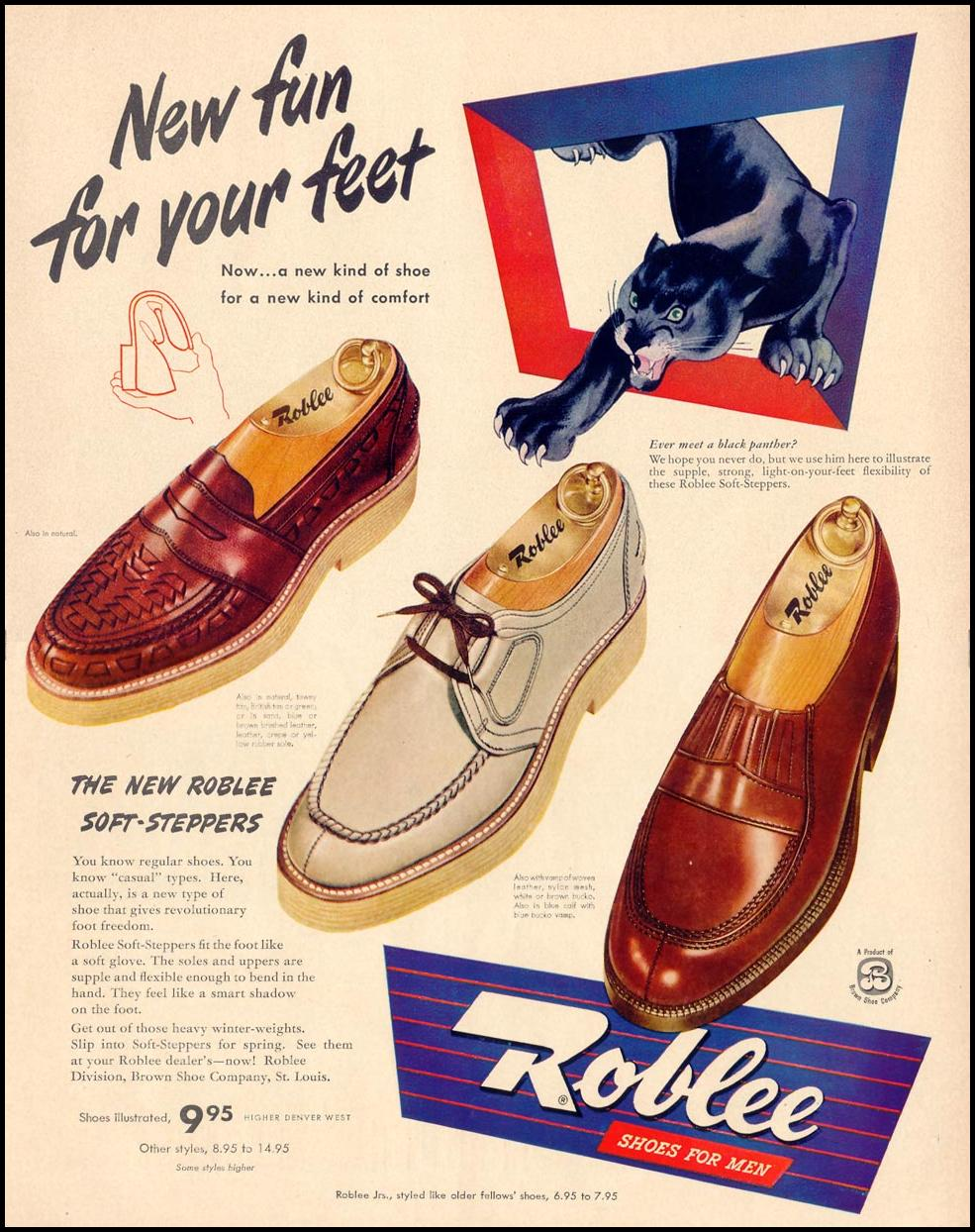 ROBLEE SHOES FOR MEN LIFE 04/17/1950 p. 129