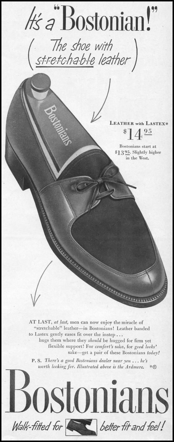 BOSTONIAN ARDMORE MEN'S SHOES LIFE 06/05/1950 p. 69