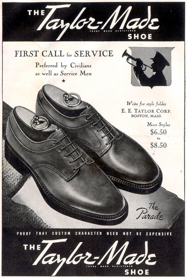 TAYLOR-MADE SHOES LIFE 11/30/1942 p. 138