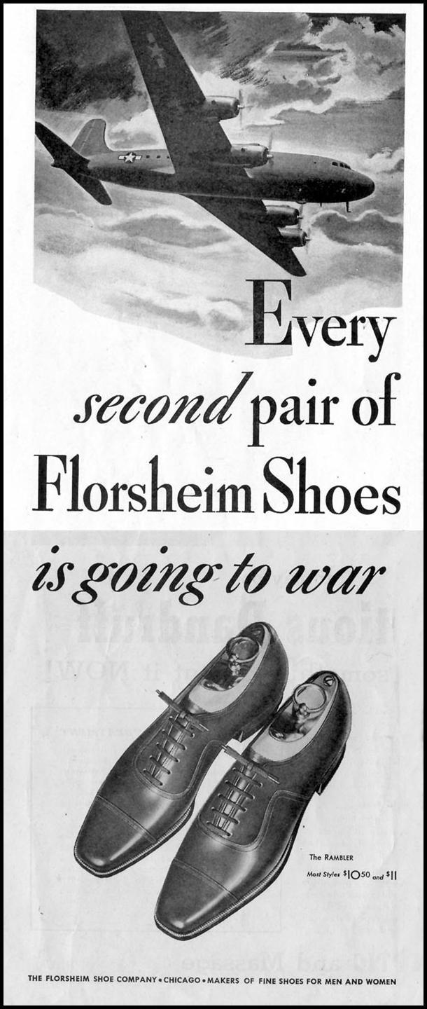 FLORSHEIM SHOES SATURDAY EVENING POST 05/19/1945 p. 2