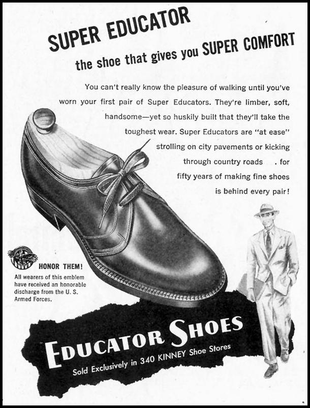 SUPER EDUCATOR SHOES SATURDAY EVENING POST 10/06/1945 p. 82