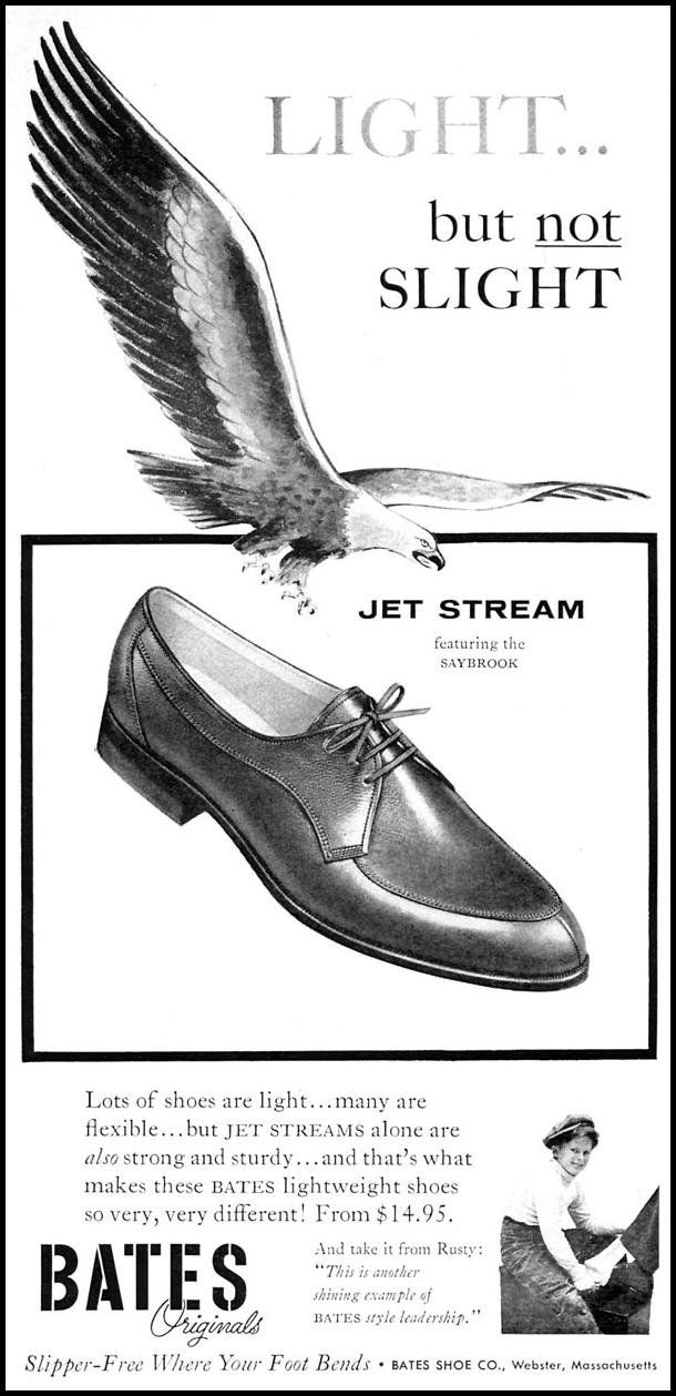 BATES JET STREAM SAYBROOK SHOES SPORTS ILLUSTRATED 04/27/1959 p. 14