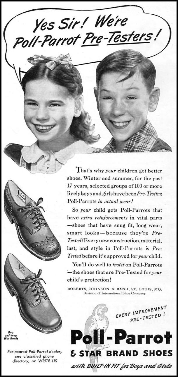 POLL-PARROT SHOES WOMAN'S DAY 07/01/1945 p. 71