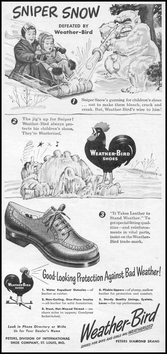 WEATHER-BIRD SHOES WOMAN'S DAY 11/01/1945 p. 105