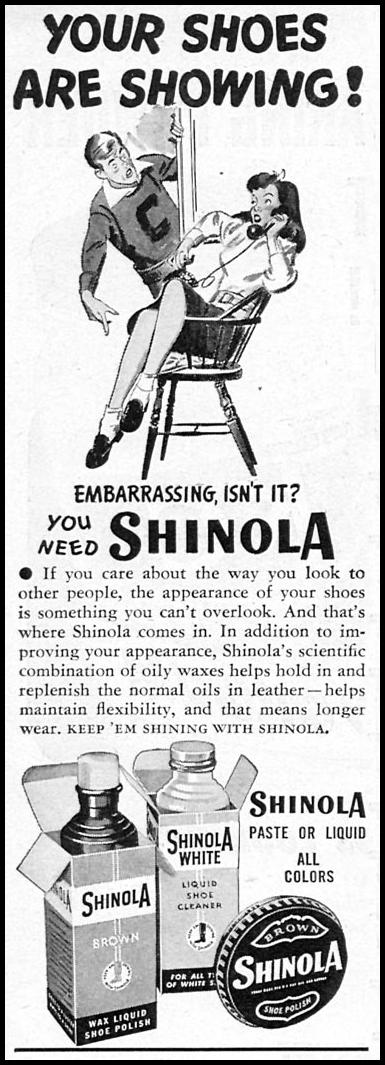 SHINOLA SHOE POLISH WOMAN'S DAY 11/01/1946 p. 88