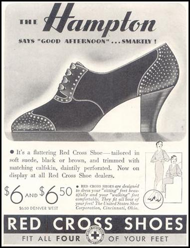 RED CROSS SHOES GOOD HOUSEKEEPING 11/01/1933 p. 199