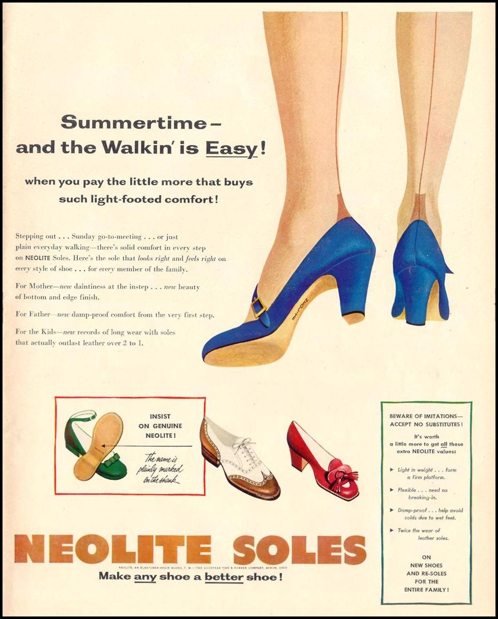 NEOLITE RUBBER SOLES LIFE 06/05/1950 p. 11
