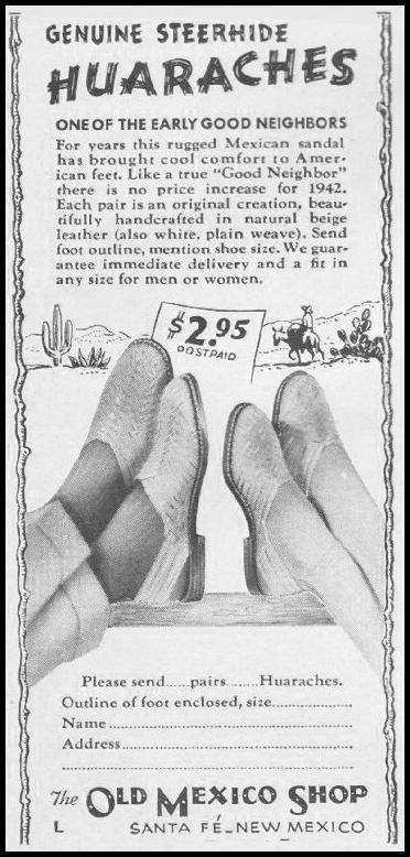 GENUINE STEERHIDE HUARACHES LIFE 06/22/1942 p. 82