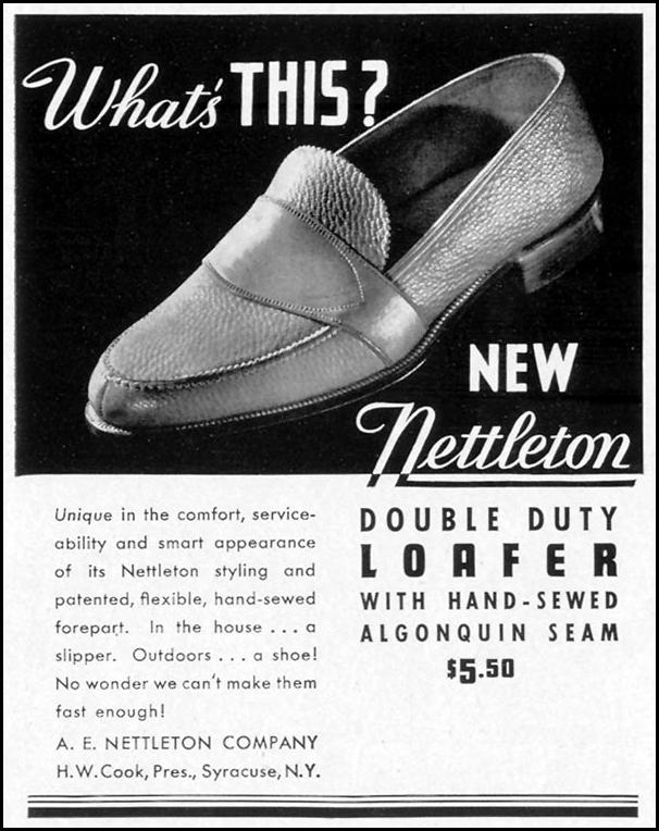 NETTLETON DOUBLE DUTY LOAFER LIFE 09/27/1937 p. 91