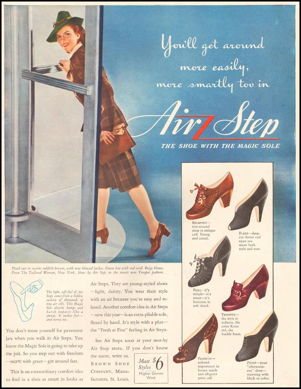 AIR STEP SHOES LIFE 09/29/1941