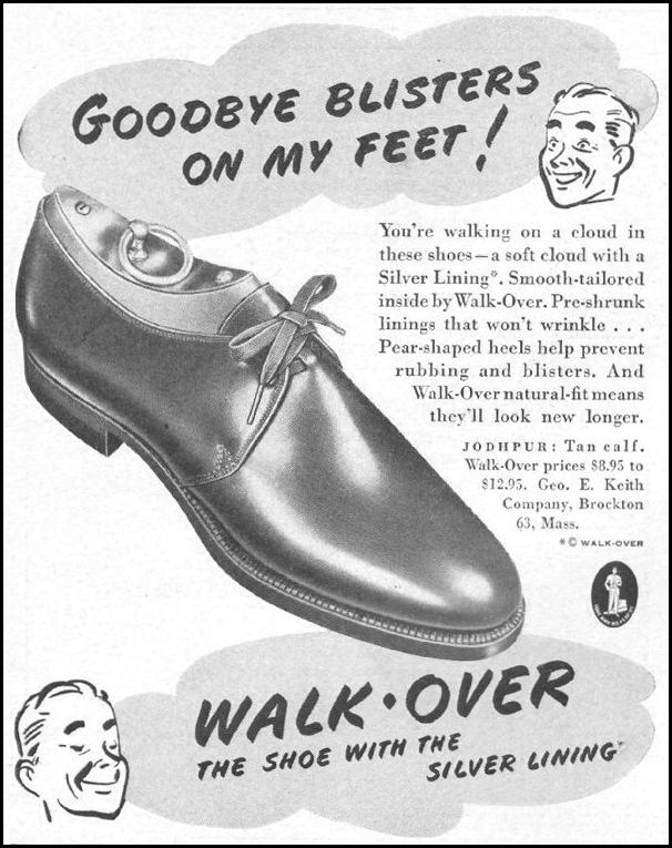 WALK-OVER SHOES LIFE 10/25/1943 p. 92