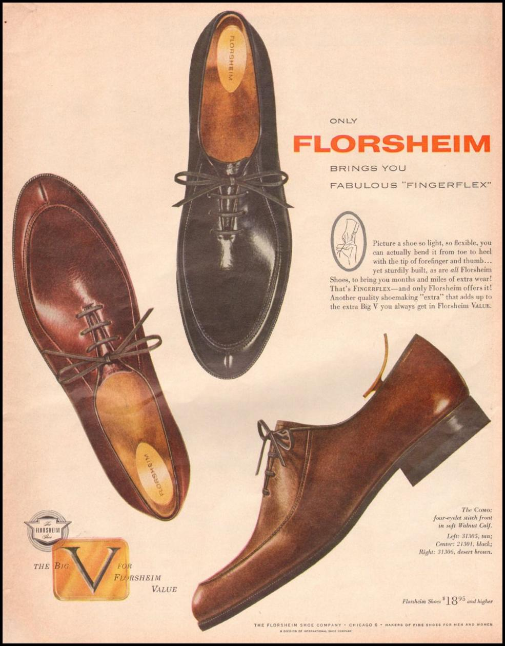 FLORSHEIM SHOES LOOK 10/29/1957 p. 15