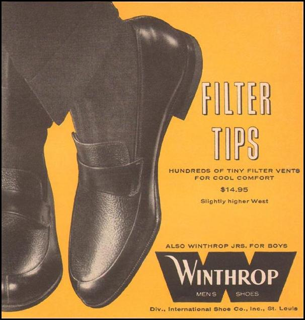 WINTHROP FILTER TIP SHOES SPORTS ILLUSTRATED 05/11/1959 p. 71
