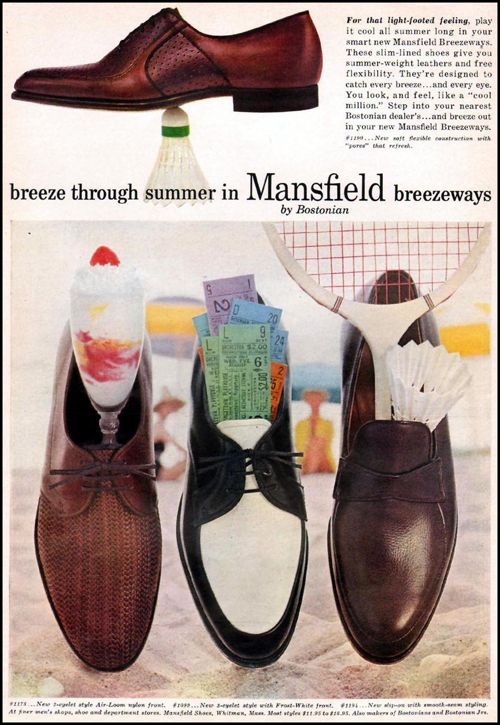 MANSFIELD BREEZEAWAY SHOES SPORTS ILLUSTRATED 05/11/1959 p. 86
