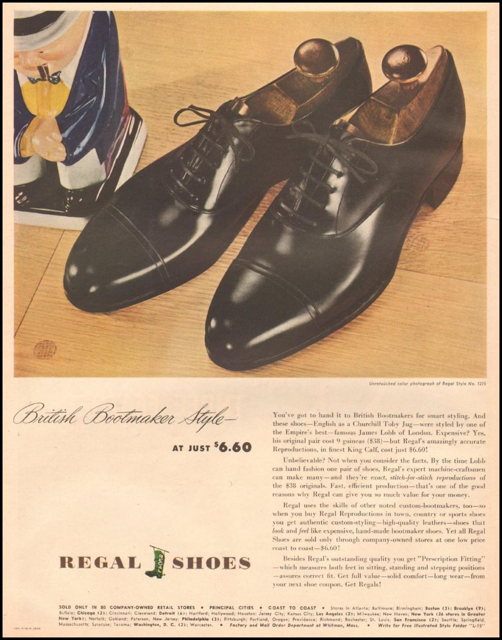 REGAL SHOES LIFE 03/12/1945