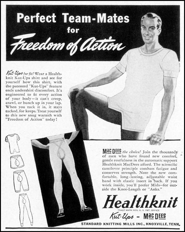 HEALTHKNIT MENS' UNDERWEAR LIFE 11/08/1943 p. 106