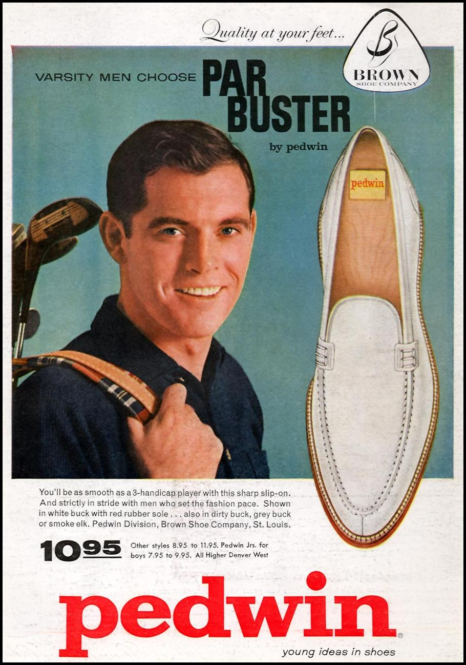 PEDWIN PAR BUSTER GOLF SHOES SPORTS ILLUSTRATED 05/11/1959 BACK COVER