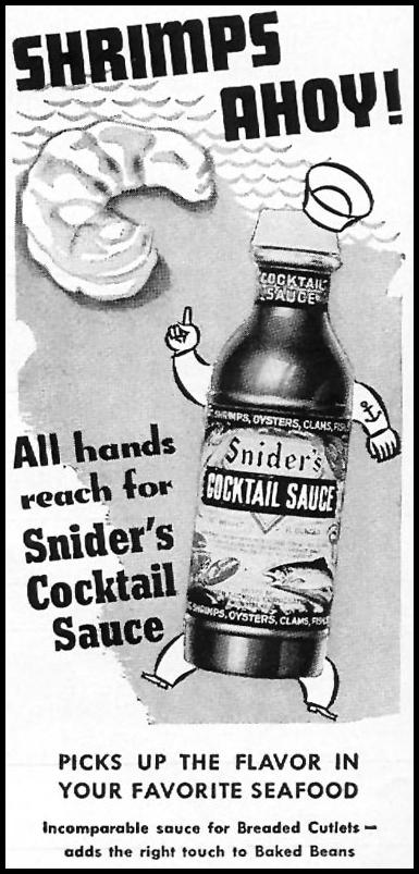 SNIDER'S COCKTAIL SAUCE TIME 11/02/1942 p. 48