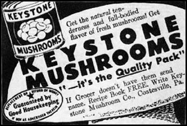 KEYSTONE MUSHROOMS WOMAN'S HOME COMPANION 12/01/1952 p. 88