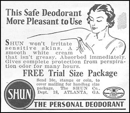 SHUN PERSONAL DEODORANT GOOD HOUSEKEEPING 06/01/1935 p. 206