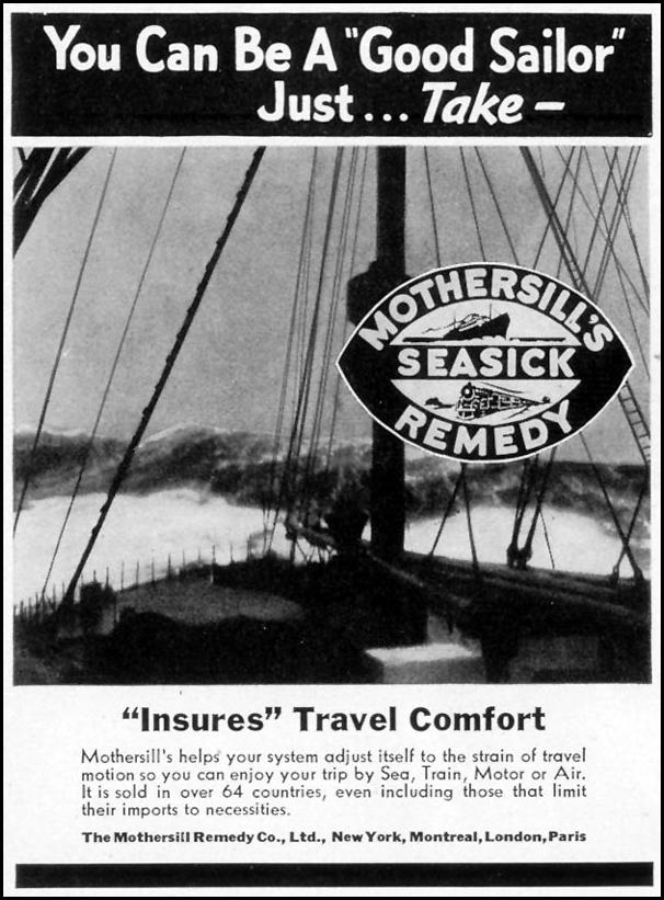 MOTHERSILL'S SEASICK REMEDY LIFE 08/09/1937 p. 92