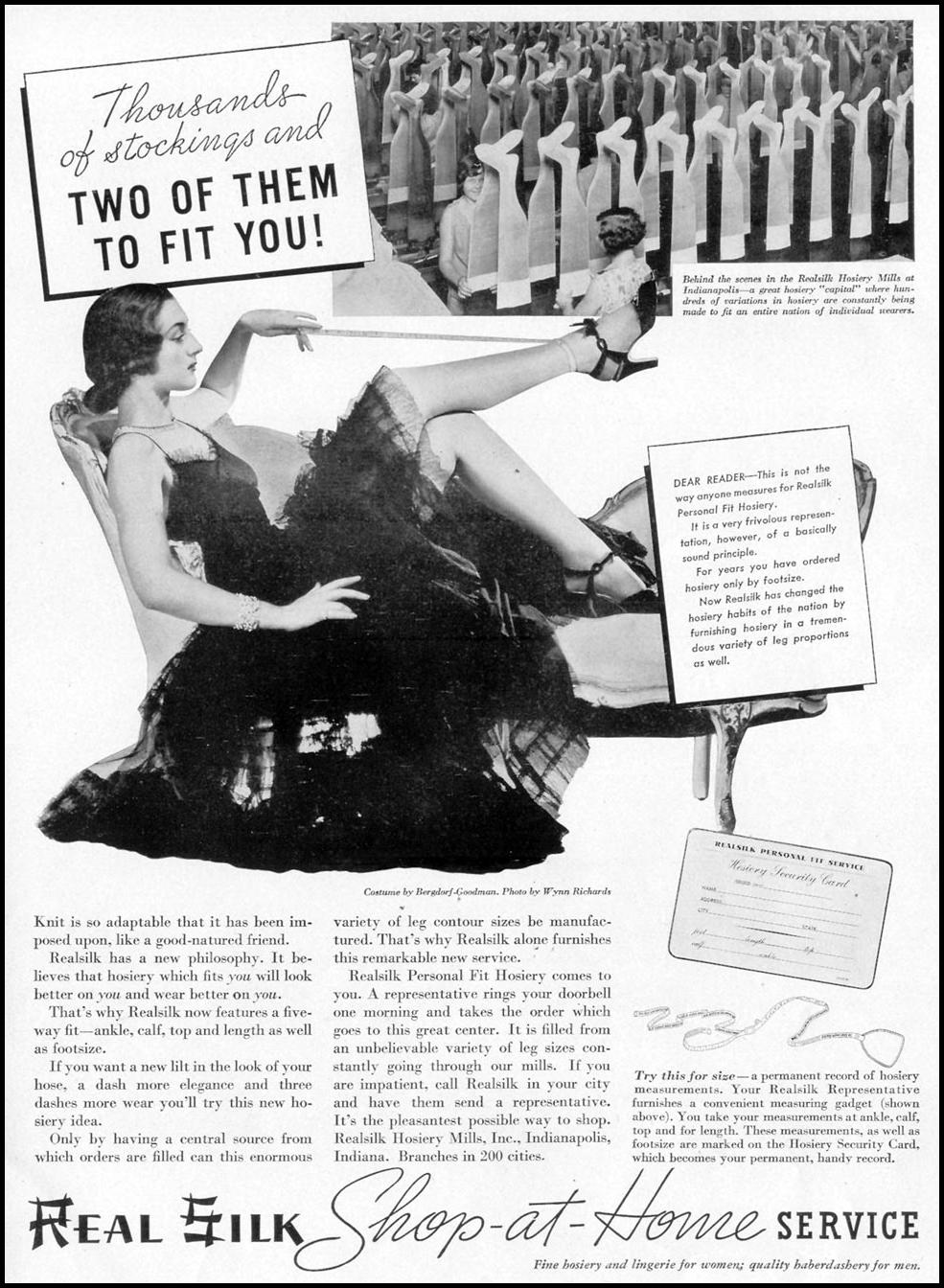 REALSILK STOCKINGS LIFE 09/06/1937 p. 95