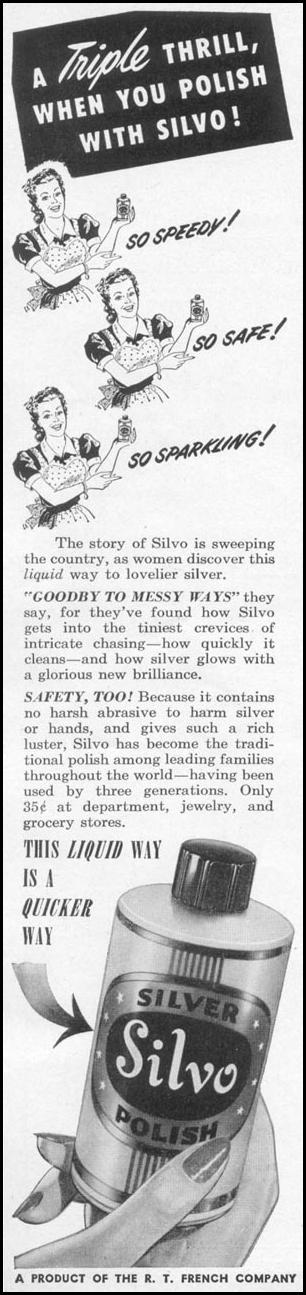 SILVO SILVER POLISH WOMAN'S DAY 12/01/1948 p. 78