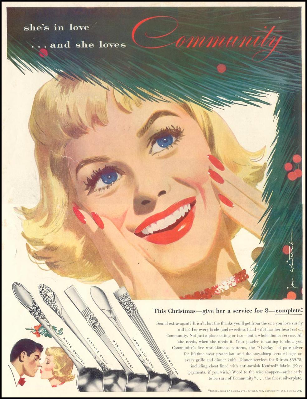 ONEIDA SILVERPLATE LIFE 11/30/1953 INSIDE FRONT