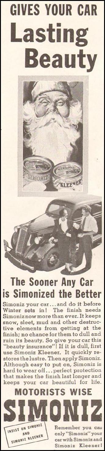 SIMONIZ CAR WAX GOOD HOUSEKEEPING 12/01/1935 p. 100