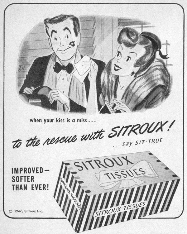 SITROUX TISSUES LIFE 10/11/1948 p. 140