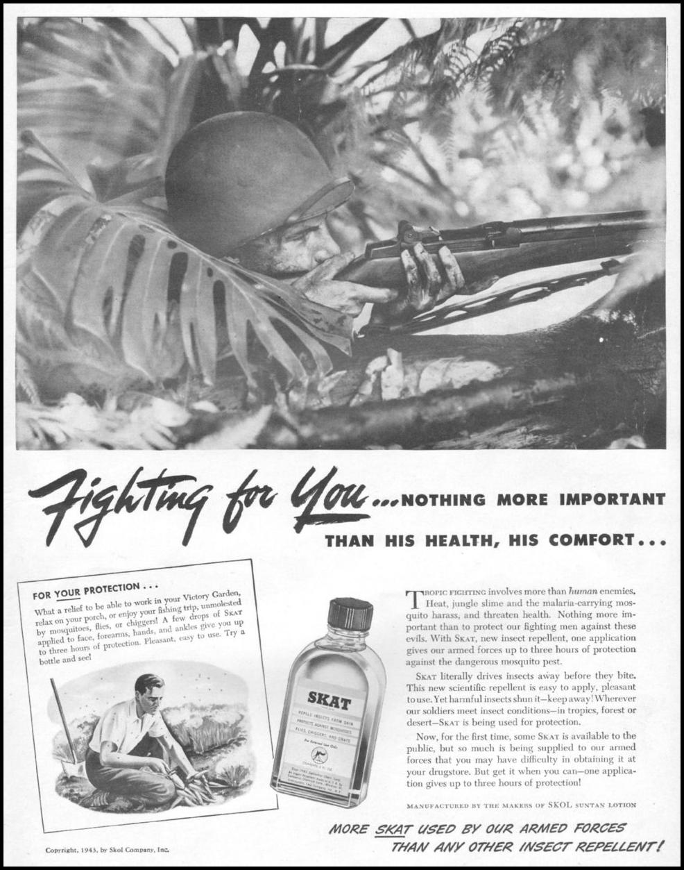 SKAT INSECT REPELLENT LIFE 06/22/1942 p. 45