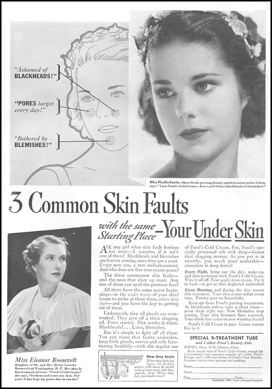 POND'S COLD CREAM GOOD HOUSEKEEPING 04/01/1936 p. 105