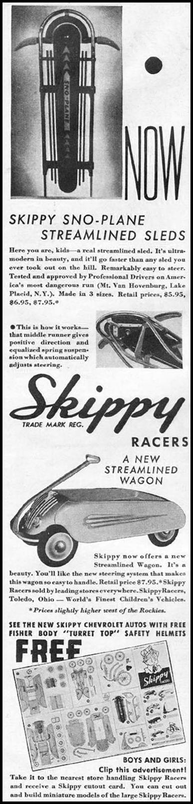 SKIPPY RACERS GOOD HOUSEKEEPING 12/01/1935 p. 174