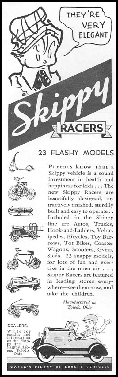 SKIPPY RACERS GOOD HOUSEKEEPING 12/01/1933 p. 164