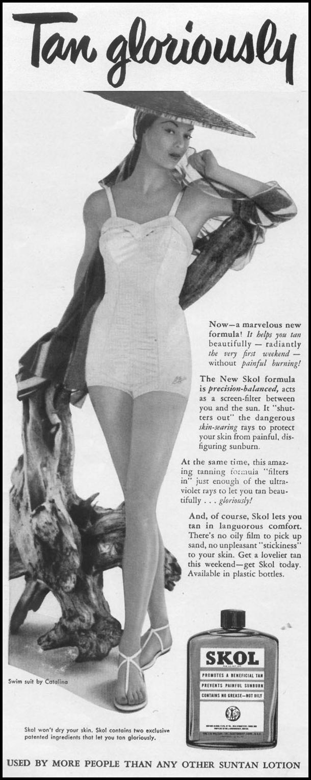 SKOL SUNTAN LOTION LIFE 06/16/1952 p. 40