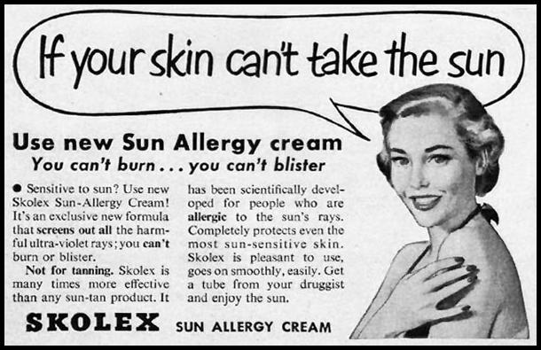 SKOLEX SUN ALLERGY CREAM LIFE 07/02/1951 p. 106