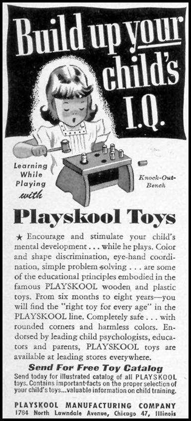 PLAYSKOOL TOYS WOMAN'S DAY 11/01/1948 p. 138