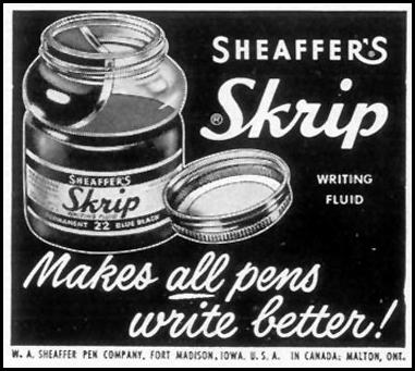 SHEAFFER'S SKRIP WRITING FLUID LIFE 04/13/1953 p. 166
