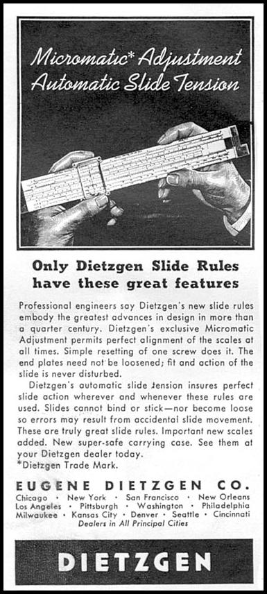 DIETZGEN SLIDE RULES TIME 09/15/1958 p. 92