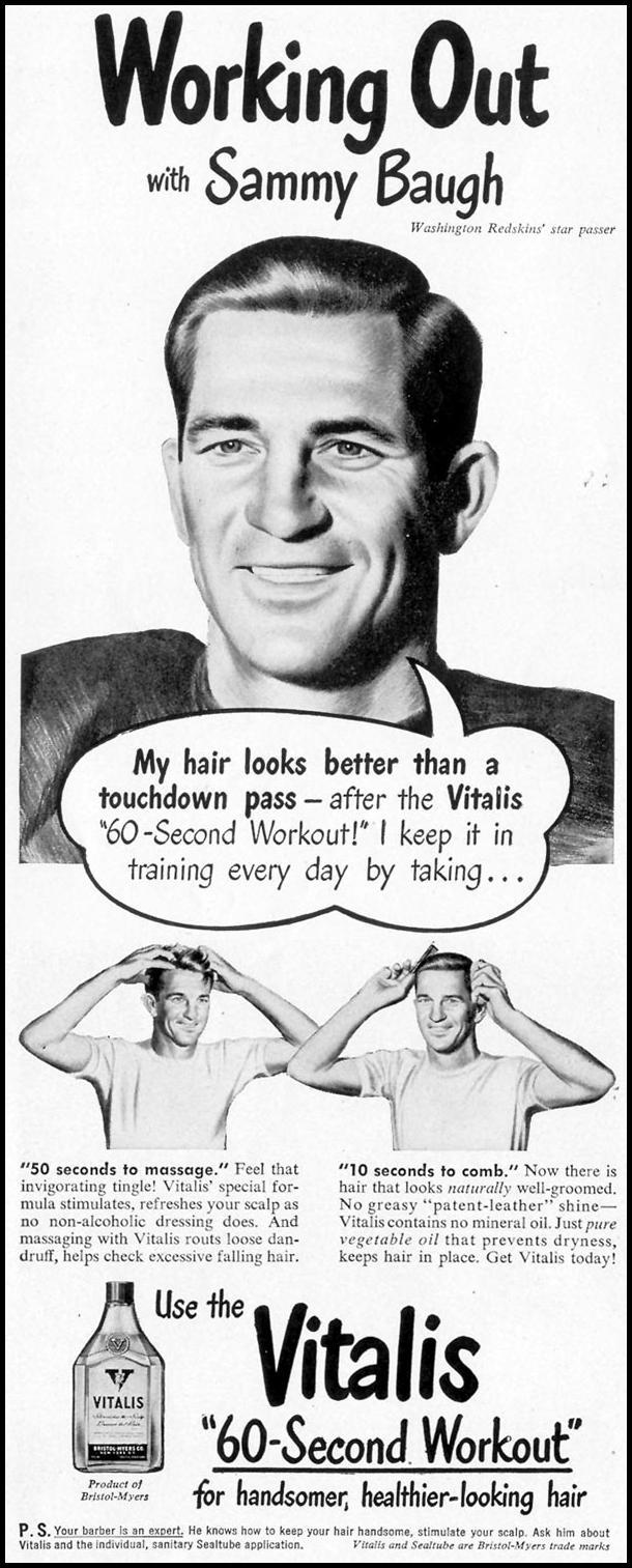 VITALIS HAIR TONIC LIFE 11/15/1948 p. 30