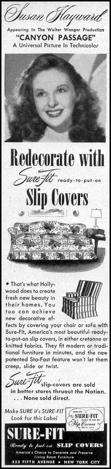 SURE-FIT SLIP COVERS WOMAN'S DAY 09/01/1946 p. 62