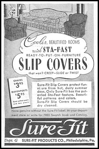 STA-FAST FURNITURE SLIP COVERS GOOD HOUSEKEEPING 06/01/1935 p. 202