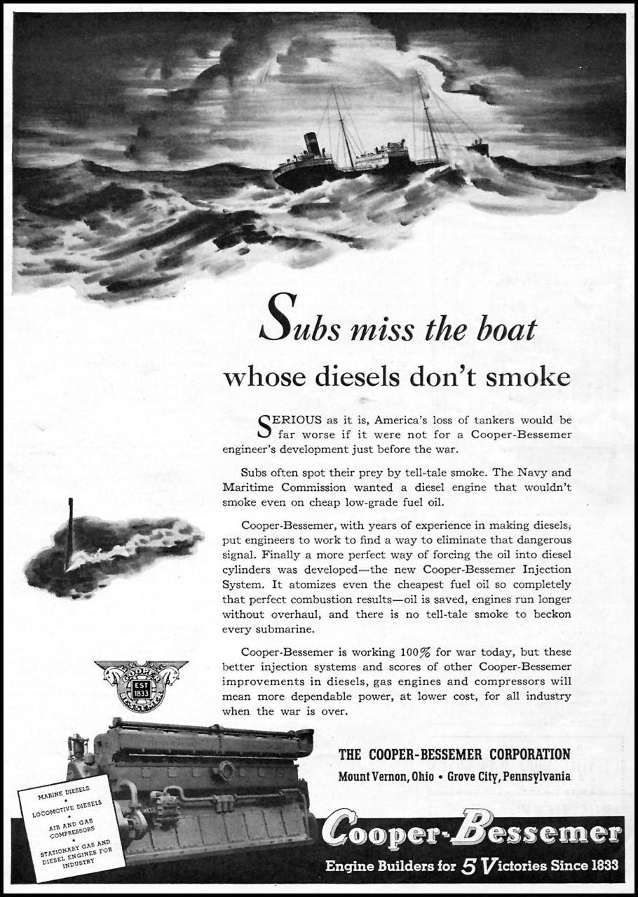 COOPER-BESSEMER DIESEL ENGINES TIME 08/17/1942 p. 73