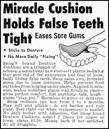 SNUG DENTAL CUSHIONS SATURDAY EVENING POST 05/02/1959 p. 104