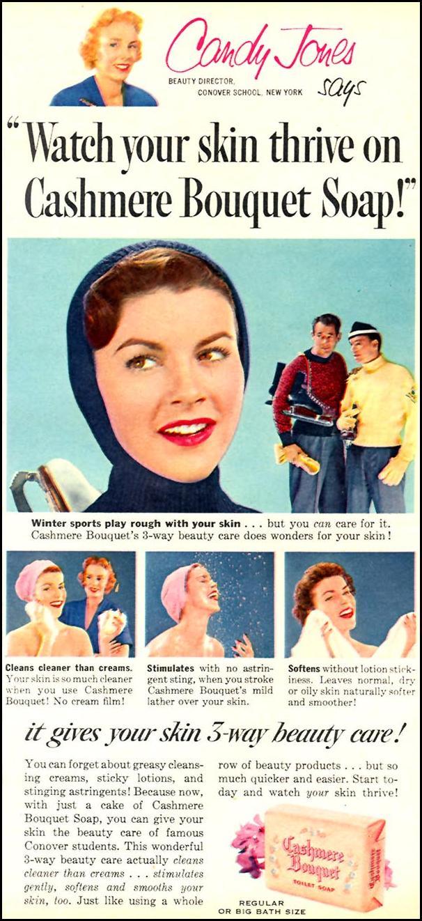 CASHMERE BOUQUET SOAP FAMILY CIRCLE 02/01/1956 p. 65