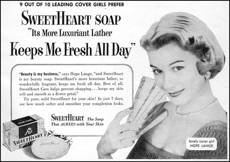 SWEETHEART TOILET SOAP WOMAN'S DAY 02/01/1954 p. 107